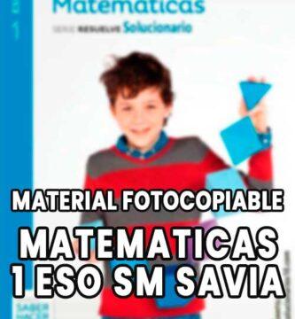 Matematicas 1 ESO Santillana Material Fotocopiable