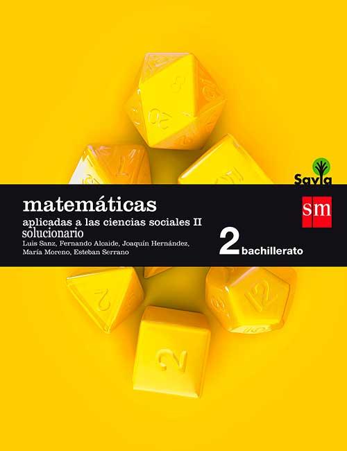 Matematicas Aplicadas a las Ciencias Sociales 2 Bachillerato SM Savia