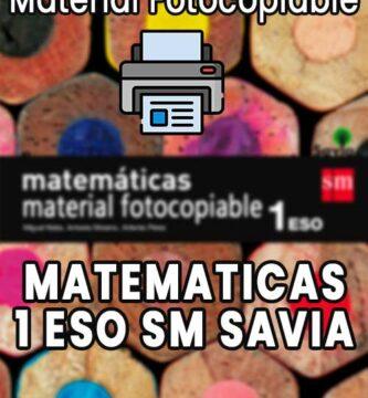 Material Fotocopiable Matematicas 1 ESO SM Savia