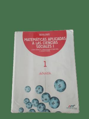 Solucionario Matemáticas 1 Bachillerato Ciencias Sociales Anaya