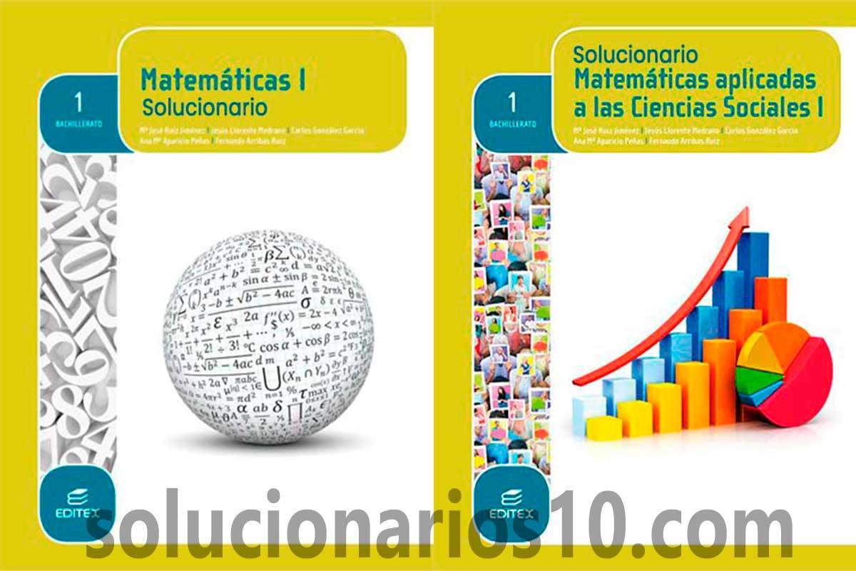 Solucionario Matematicas 1 Bachillerato Editex