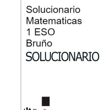 Solucionario Matematicas 1 ESO Bruño PDF