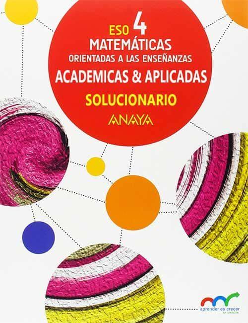 Solucionario Matematicas 4 ESO Anaya