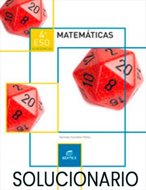Solucionario Matematicas 4 ESO Editex