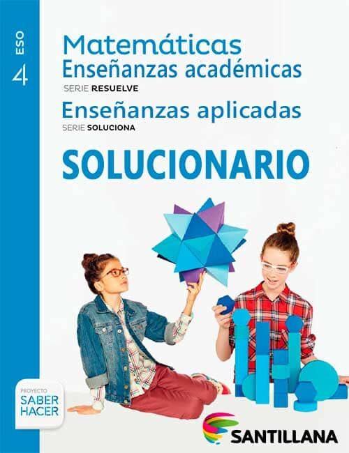 Solucionario Matematicas 4 eso Santillana