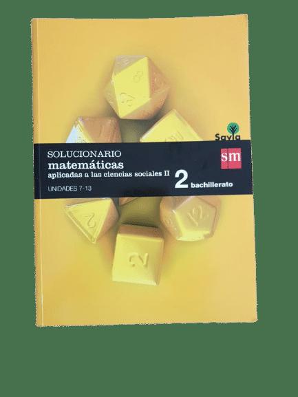 matematicas aplicadas a las ciencias sociales 2 bachillerato sm pdf