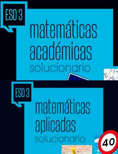 solucionario libro Matematicas 3 eso Edelvives
