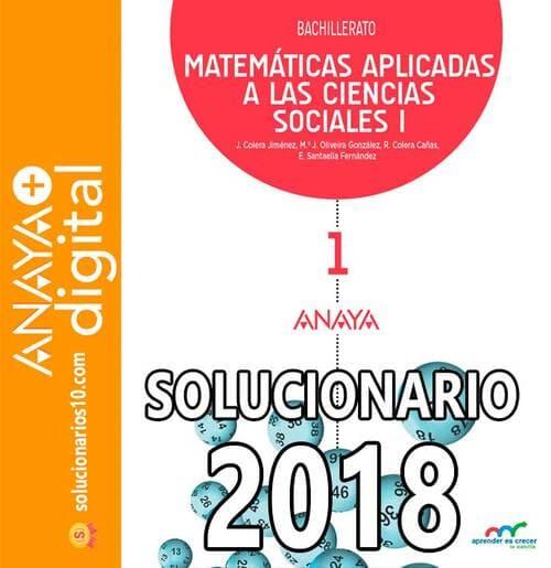 solucionario matematicas aplicadas a las ciencias sociales 1 bachillerato anaya 2018
