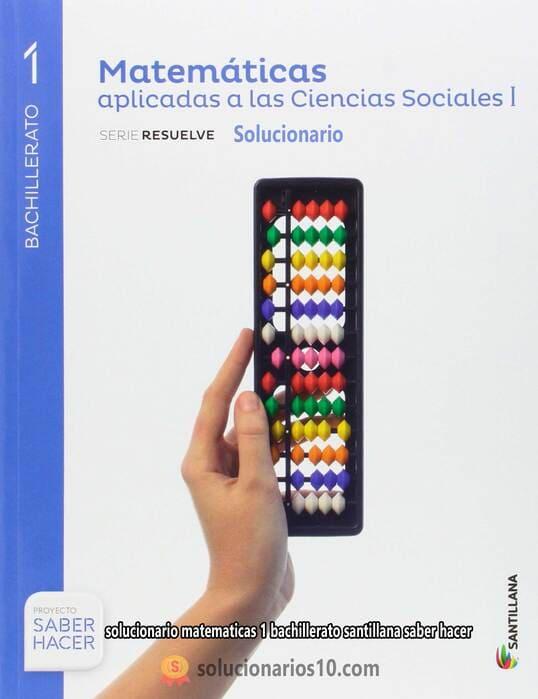 solucionario matematicas aplicadas a las ciencias sociales 1 bachillerato santillana